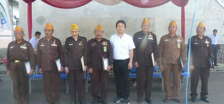 Upacara HUT RI Tahun ini, PT. New Minatex Mengundang Veteran Pejuang Kemerdekaan.