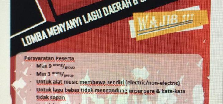 Sambut Hari Kemerdekaan, PT. New Minatex Mengadakan Lomba Menyanyi Lagu Daerah Indonesia